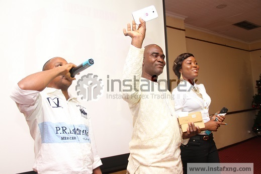 First Forex winner of samsung galaxy at Instafxng lunch event